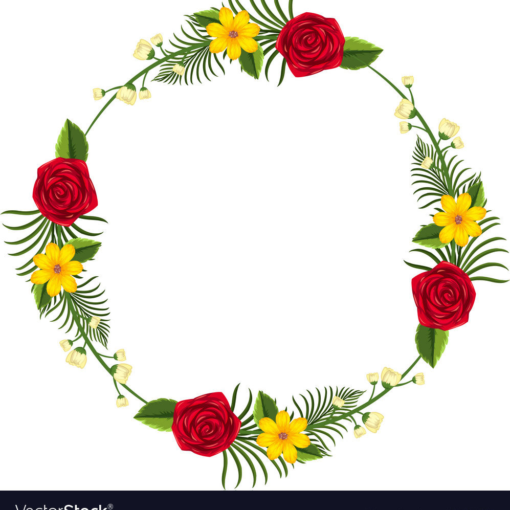 round-border-template-with-yellow-and-red-flowers-vector-18390038